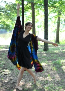 Having that positive self image from dance allows me to do things like this! (hand-dyed robe of www.goddessgarb.com)